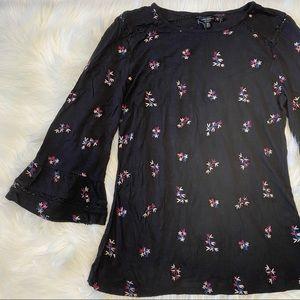 Lucky Brand Embroidered Shirt Top Medium NWT